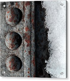 Raw Steel...on Ice Acrylic Print by Tom Druin