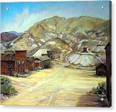 Rawhide Nevada Acrylic Print by Evelyne Boynton Grierson