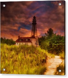 Rawley Point Lighthouse Acrylic Print
