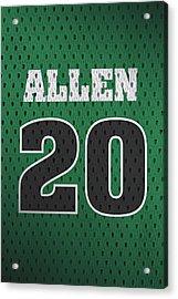 Ray Allen Boston Celtics Retro Vintage Jersey Closeup Graphic Design Acrylic Print