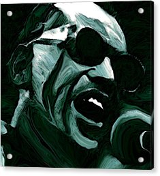 Ray Charles Acrylic Print by Jeff DOttavio
