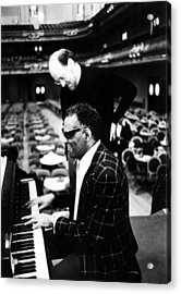 Ray Charles, With Conductorcomposer Acrylic Print by Everett