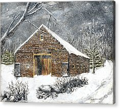 Ray Emerson's Old Barn Acrylic Print by Jack Skinner