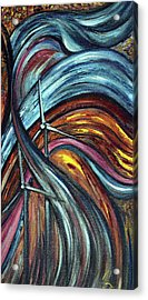 Acrylic Print featuring the painting Ray Of Hope 2 by Harsh Malik