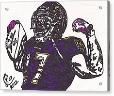 Acrylic Print featuring the drawing Ray Rice 1 by Jeremiah Colley