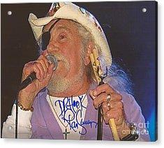 Ray Sawyer Autographed Acrylic Print