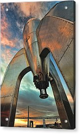 Acrylic Print featuring the photograph Raygun Gothic Rocketship Blast-off by Steve Siri