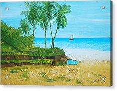 Raymond Les Bains Jacmel Haiti Acrylic Print by Nicole Jean-Louis