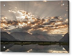 Acrylic Print featuring the photograph Rays And Reflection, Hunder, 2006 by Hitendra SINKAR
