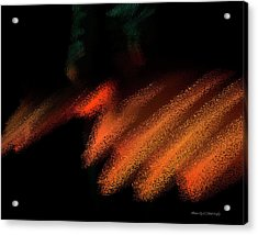 Rays In Orange And Gold Acrylic Print