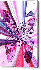 Rays Of Butterfly Acrylic Print by Amanda Eberly-Kudamik