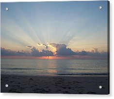 Rays Of Light Acrylic Print