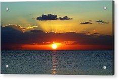 Rays Of Sunset Acrylic Print