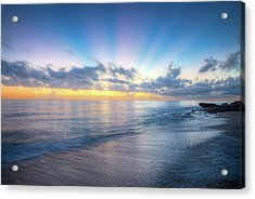 Acrylic Print featuring the photograph Rays Over The Reef by Debra and Dave Vanderlaan