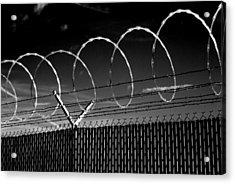 Razor Wire In The Sun Acrylic Print