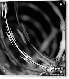 Razor Wire Up Close Acrylic Print