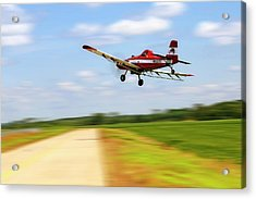 Razorback Flyby - Crop Duster - Ag Pilot Acrylic Print by Jason Politte