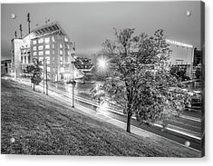Razorback Stadium In Black And White - Fayetteville Arkansas Acrylic Print