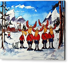 Rcmp  Detachment At Fort Macmoose  Acrylic Print by Wilfred McOstrich
