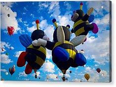 Hot Air Balloon Cheerleaders Acrylic Print