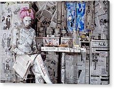 Read Me 1 Acrylic Print by Filippo Ioco