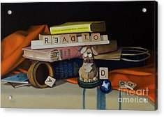 Read To A Dog Acrylic Print by Margit Sampogna