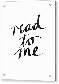 Read To Me- Art By Linda Woods Acrylic Print