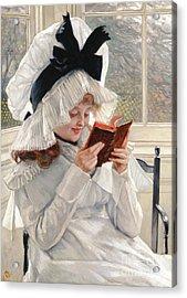Reading A Book Acrylic Print