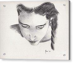 Reading Acrylic Print by Annemeet Hasidi- van der Leij
