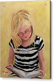 Reading Bee Acrylic Print by Carol Berning