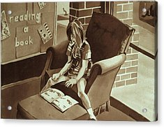 Reading Corner Acrylic Print by Judy Swerlick