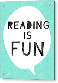 Reading Is Fun- Art By Linda Woods Acrylic Print