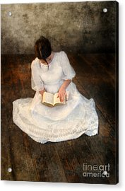 Reading  Acrylic Print by Jill Battaglia