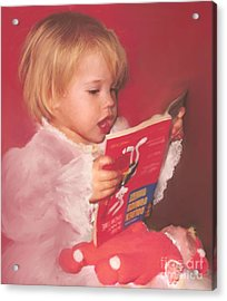 Reading To Her Baby Acrylic Print by McKenzie Leopold