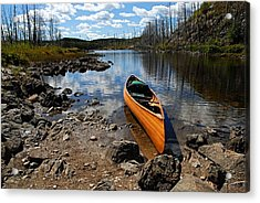 Ready To Paddle Acrylic Print by Larry Ricker