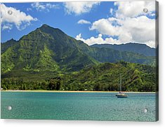 Ready To Sail In Hanalei Bay Acrylic Print by James Eddy