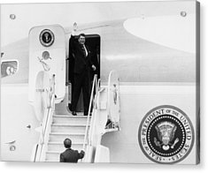 Reagan Presidency. Us President Ronald Acrylic Print by Everett