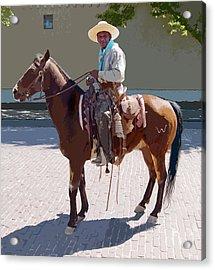 Real Cowboy Acrylic Print