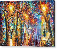 Real Dreams   Acrylic Print by Leonid Afremov