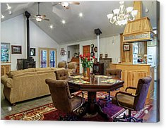 Acrylic Print featuring the photograph Real Estate Dining Room And Living Room by James Eddy
