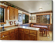 Acrylic Print featuring the photograph Real Estate Kitchen And Dining Room by James Eddy