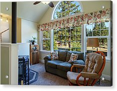 Acrylic Print featuring the photograph Real Estate Sitting Room by James Eddy