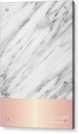 Real Italian Marble And Pink Acrylic Print