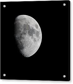 Real Moon Acrylic Print by Tom Dowd