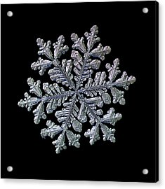 Real Snowflake - Hyperion Black Acrylic Print