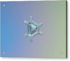 Real Snowflake Photo - Emerald Acrylic Print by Alexey Kljatov