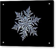 Real Snowflake - Silverware Black Acrylic Print