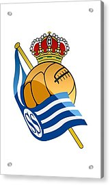 Real Sociedad De Futbol Sad Acrylic Print by David Linhart