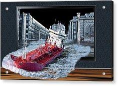 Reality Tv Acrylic Print by Angel Jesus De la Fuente