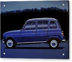 Renault 4 1961 Painting Acrylic Print